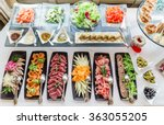 catering banquet table | Shutterstock . vector #363055205
