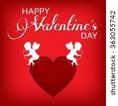 happy valentines day card... | Shutterstock .eps vector #363055742