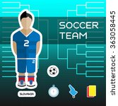 soccer team   slovakia....   Shutterstock . vector #363058445