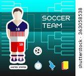 soccer team   united states....   Shutterstock . vector #363058538