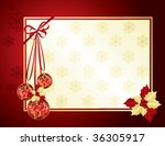 red and gold christmas... | Shutterstock .eps vector #36305917