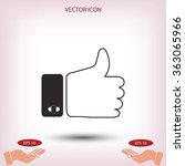 hand. good vector icon | Shutterstock .eps vector #363065966