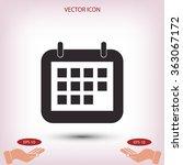 calendar icon | Shutterstock .eps vector #363067172