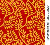 seamless floral wallpaper | Shutterstock .eps vector #36306820