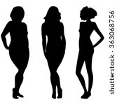 female silhouettes with... | Shutterstock .eps vector #363068756