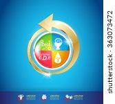 kids omega calcium and vitamin  ... | Shutterstock .eps vector #363073472