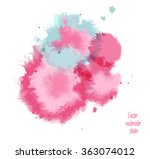 vector watercolor stains. | Shutterstock .eps vector #363074012