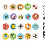 basic colored vector icons 11 | Shutterstock .eps vector #363078722