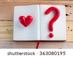 Heart And Question Mark Red...