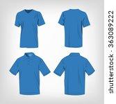 sport light blue t shirt and... | Shutterstock .eps vector #363089222