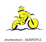 motocross icon | Shutterstock . vector #363092912