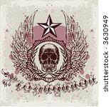 vintage skull emblem | Shutterstock .eps vector #3630949