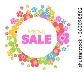 spring sales background with... | Shutterstock .eps vector #363098582