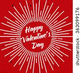 happy valentine's day lettering.... | Shutterstock .eps vector #363099176