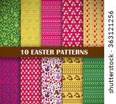 scrapbook easter set of 10... | Shutterstock .eps vector #363121256