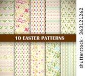 scrapbook easter set of 10... | Shutterstock .eps vector #363121262