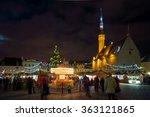 tallinn  estonia   december 24  ...   Shutterstock . vector #363121865