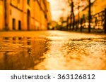 streets in the late autumn... | Shutterstock . vector #363126812