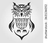 silhouette owl. graphic design. ... | Shutterstock .eps vector #363136052
