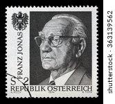 austria circa 1974 a stamp... | Shutterstock . vector #363139562