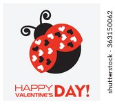ladybirds and valentine's day | Shutterstock .eps vector #363150062