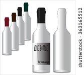 realistic bottles for red or... | Shutterstock .eps vector #363165512