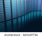 servers lined up on an abstract ... | Shutterstock . vector #363169736