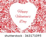 red valentine's day background... | Shutterstock .eps vector #363171095