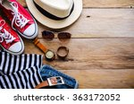 clothing and accessories for... | Shutterstock . vector #363172052
