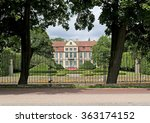 Small photo of View of the Abbatical palace in Olivsky park of Adam Mickiewicz. Gdansk, Poland