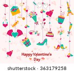 happy valentine's day greeting... | Shutterstock .eps vector #363179258