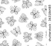 vector seamless pattern with... | Shutterstock .eps vector #363186485