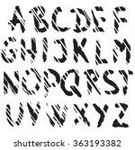 scratched alphabet letters ... | Shutterstock .eps vector #363193382
