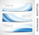 abstract header blue wave white ... | Shutterstock .eps vector #363197126