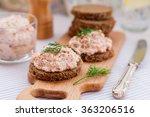 smoked salmon  cream cheese ... | Shutterstock . vector #363206516
