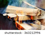 fire  flames from wood ember... | Shutterstock . vector #363212996