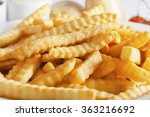 portion of french fries ... | Shutterstock . vector #363216692