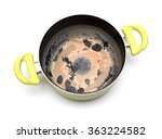 dirty empty pan on a white... | Shutterstock . vector #363224582