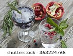 blueberry and pomegranate...   Shutterstock . vector #363224768