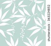 seamless leaf pattern. floral... | Shutterstock .eps vector #363224852