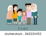 vector portrait family with... | Shutterstock .eps vector #363231452