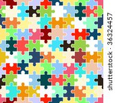 puzzle  seamless texture    Shutterstock .eps vector #36324457