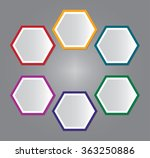 set of six color labels. info... | Shutterstock .eps vector #363250886