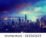 hong kong from the victoria peak | Shutterstock . vector #363262625