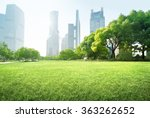 park in lujiazui financial... | Shutterstock . vector #363262652