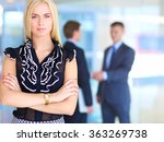 business woman standing in... | Shutterstock . vector #363269738