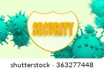 shield with security text and... | Shutterstock . vector #363277448