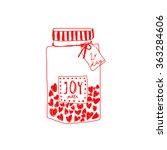 hand drawn happy valentines day ...   Shutterstock .eps vector #363284606
