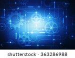digital abstract technology... | Shutterstock . vector #363286988
