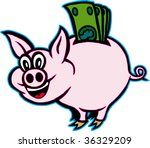 piggy | Shutterstock .eps vector #36329209